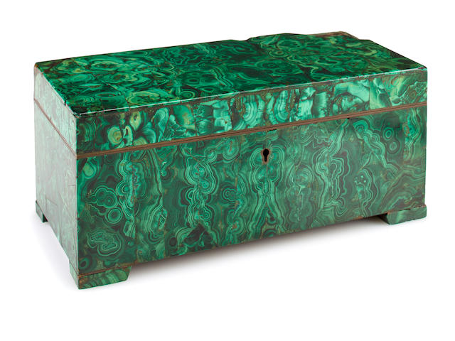 Russian malachite casket