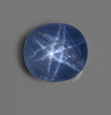 Rare Double-star Blue Sapphire--A Published Gem
