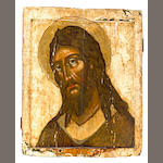 Icon of John the Baptist, probably Greek, late 18th to early 19th century, 21 x 16 1/2in