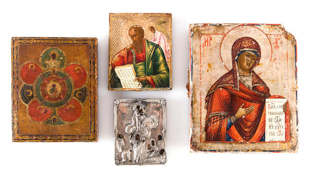 Four icons<BR />late 19th/early 20th century