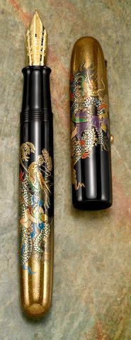 [Maki-e] NAMIKI: Double Dragon Maki-e Limited Edition 200 Emperor Fountain Pen