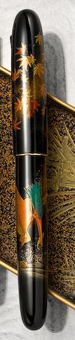 [maki-e] NAMIKI: Kingfisher Yukari Royale Maki-e Fountain Pen