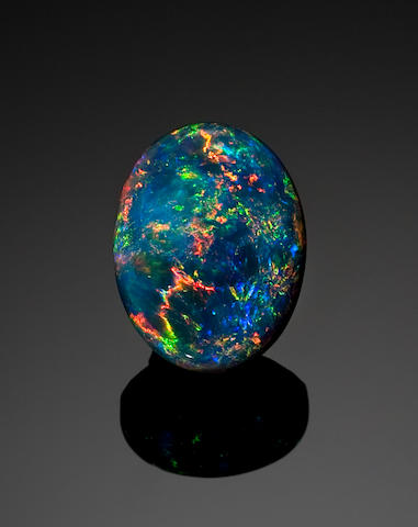 Classic Black Crystal Opal