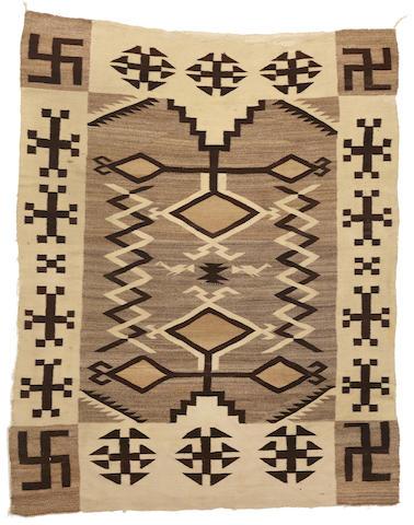 A Navajo Crystal pictorial rug