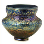 A Tiffany Studios decorated Favrile glass vase circa 1899