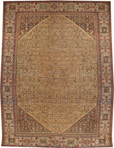 A Sultanabad long carpet  Central Persia size approximately 15ft. 9in. x 20ft. 7in.