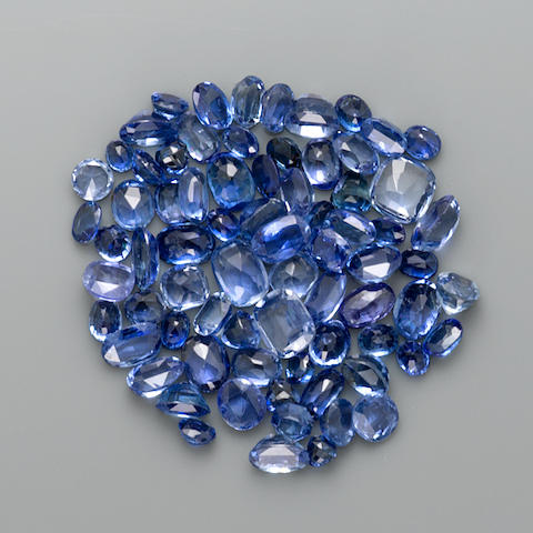 Group of Medium Blue Sapphires