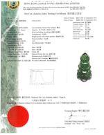 A jadeite jade pendant