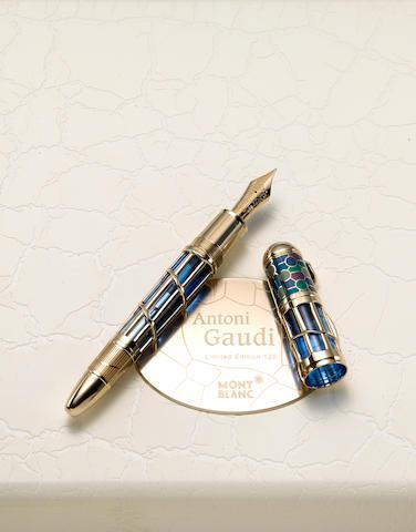 MONTBLANC: Antoni Gaudi Limited Edition 128 Skeleton Fountain Pen
