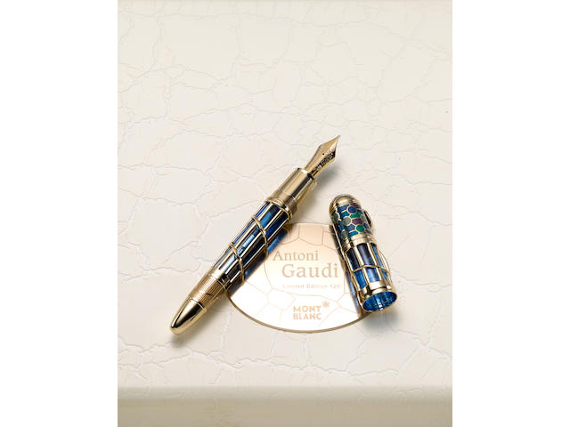 MONTBLANC: Antoni Gaudi Limited Edition 128 Skeleton Fountain Pen