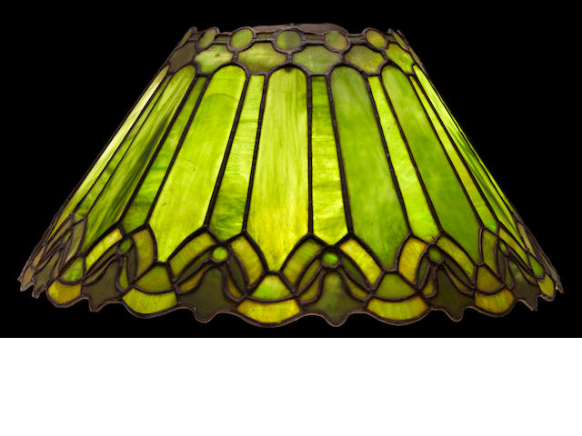 A Duffner & Kimberly leaded glass open top shade early 20th century