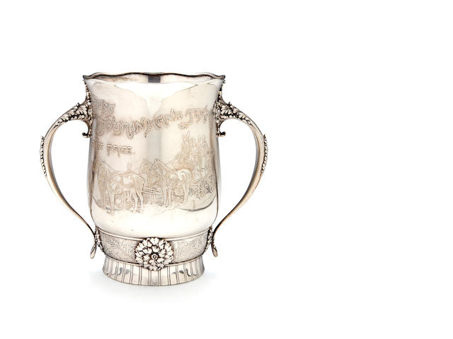 "An American sterling silver two-handled ""Four-in-Hand"" trophy<BR />by Whiting Mfg. Co., New York, New York, circa 1886"