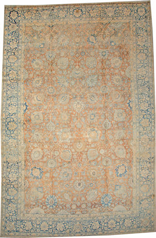 A Tabriz carpet  Northwest Persia size approximately 12ft. x 19ft.
