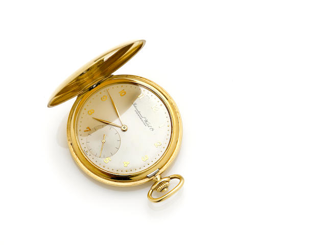 An 18k gold hunter cased pocket watch, International Watch Co.
