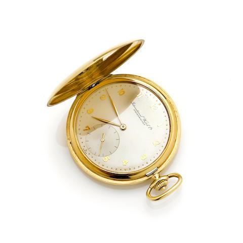 An 18k gold hunter cased pocket watch, International Watch Co.
