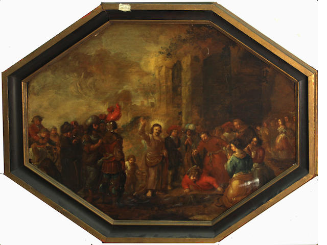Dutch School, Raising of Lazarus(?), o/p