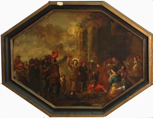 Dutch School, Raising of Lazarus(?), o/p