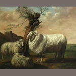 English School, 19th century Sheep in a landscape