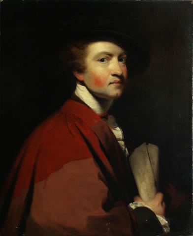 Walter G. Gould (American, 1829-1893) Self-portrait (After Sir Joshua Reynolds) 29 x 23in unframed
