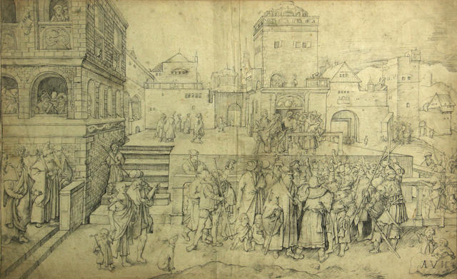 After Lucas van  Leyden Ecce Homo 12 1/2 x 19 1/2in