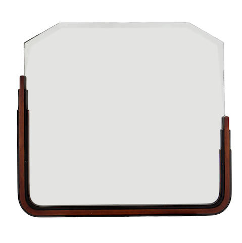 An American Art Deco parcel ebonized fruitwood wall mirror 1930s