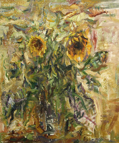 Yuri Gusev (Russian, born 1928) Sunflowers, 1992 23 3/4 x 20in