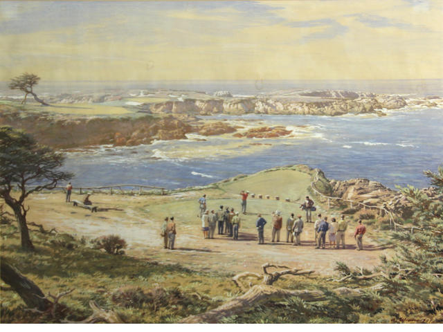 Arthur Weaver, 16th Hole at Cypress Point, wc