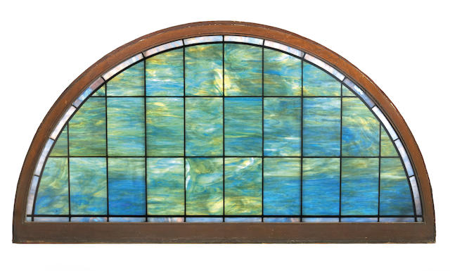 A Tiffany Studios Favrile glass transom window