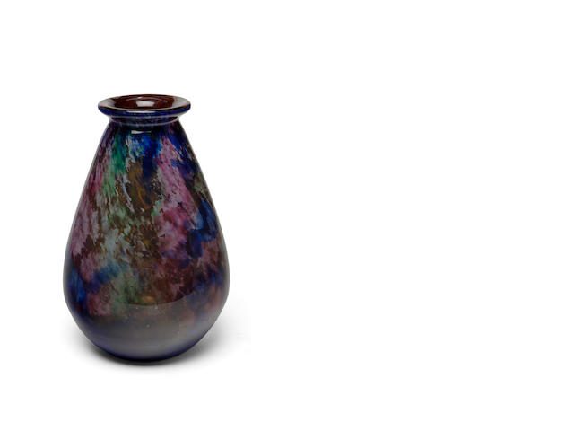 A Muller Frères internally-decorated glass vase circa 1925