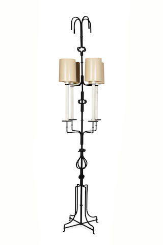 A Tommi Parzinger four-light enameled-iron  floor lamp circa 1960
