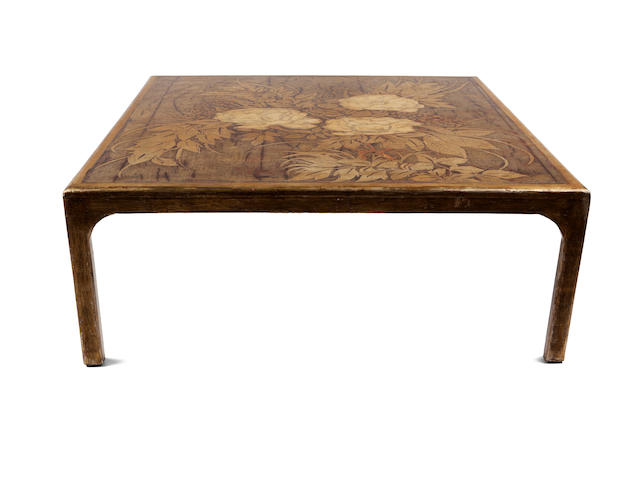 A Max Kuehne carved, gessoed and gilded wood table 1930s