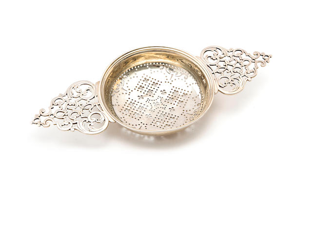 George III silver punch strainer, stamped 'WS', from the Jessup Collection, Sothebey's New York