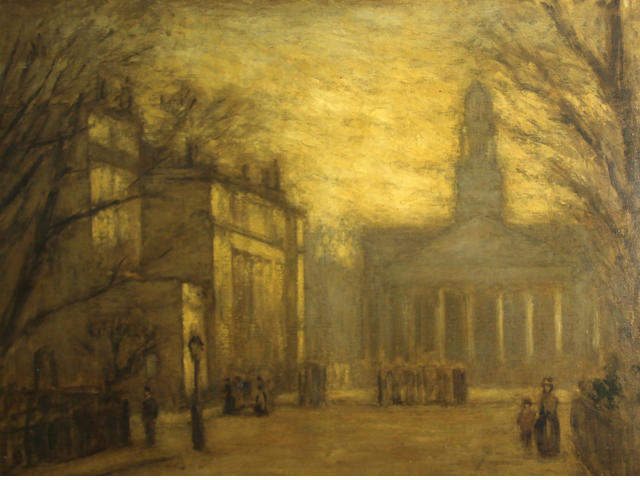 English School A view of St. Marylebone Parish Church, London 24 1/2 x 31 3/4in