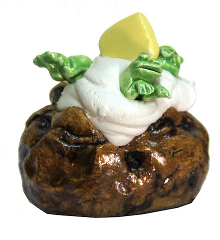 David James Gilhooly (American, born 1943) Frog baked potato, 1978 4 1/2 x 4 1/2 x 3 3/4in