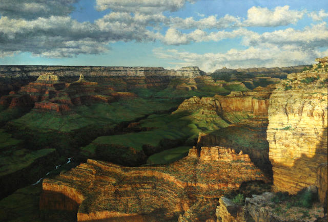 Peter Kola, Landscape of Grand Canyon 28 1/2 x 41 3/4in