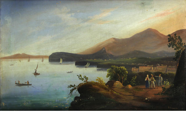 Gigante, Views of the Bay of Naples, a pair of gouache