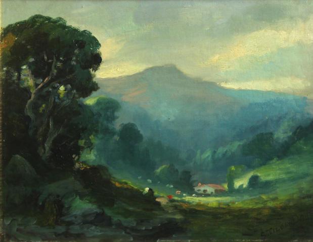Samuel Tilden Daken (American, 1876-1935) Mount Tamalpais, Marin County 11 x 14in