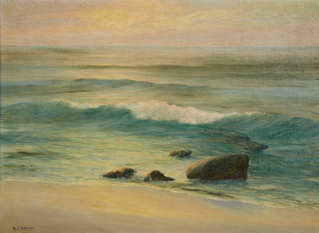 Roi Clarkson Colman (American, 1884-1945) End of the day, Laguna Beach