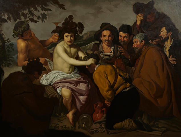 After Diego Rodríguez de Silva y Velázquez The triumph of Bacchus 39 1/2 x 53in