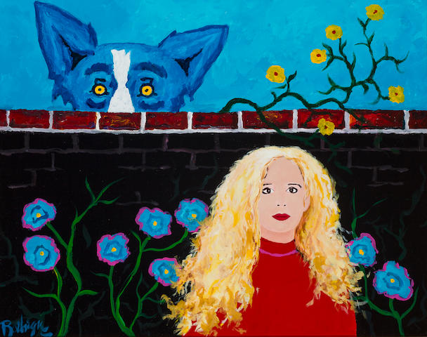 George Rodrigue (American, born 1944)  In my secret garden 24 x 30 in. (60.9 x 76.2 cm.)