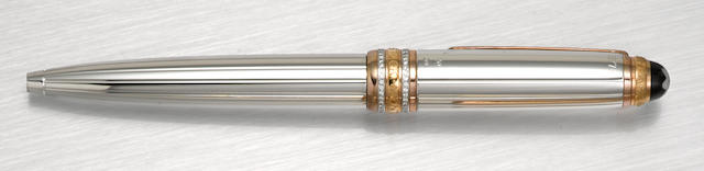 MONTBLANC: Meisterstück Solitaire 116 White Gold & Diamond 75th Anniversary Limited Edition Ballpoint Pen