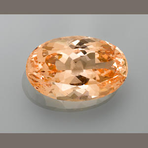 Impressive Orange Beryl--A Member of the '100 Carats Club'