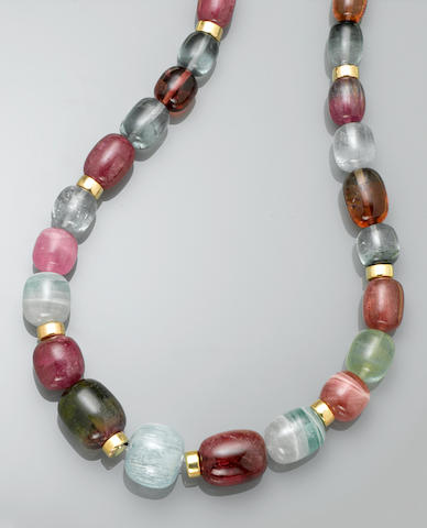 Multi-color Tourmaline Necklace
