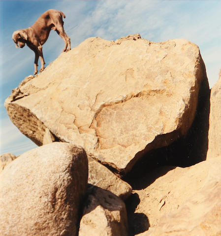William Wegman, Rock Clock, 1999