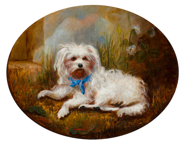 J. Liddell (British) Portrait of Dill-Dou 12 x 15 in. (30.5 x 38.1 cm.)