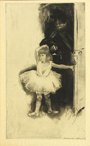 Louis Legrand (French, 1863-1951); Première leçon, from Les Petites du Ballet;