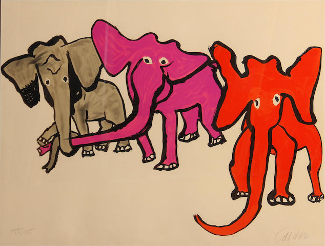 Alexander Calder (American, 1898-1976); Elephants, from Our Unfinished Revolution;