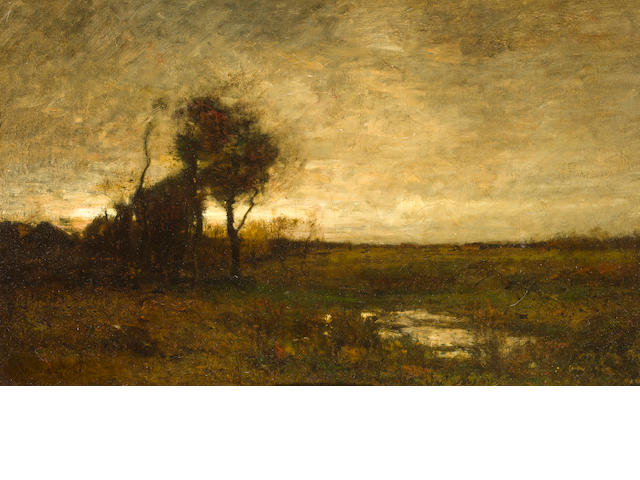 John Francis Murphy (1853-1921) Late Afternoon 12 x 19 1/8in