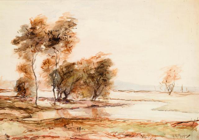 John Francis Murphy (1853-1921) Landscape 12 1/2 x 18in