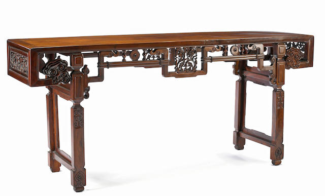 A carved hongmu altar table Republic period